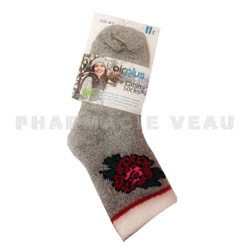 AIRPLUS Chaussettes Hydratantes Rose Rouge (Taille 35-41)
