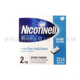NICOTINELL 2 mg MENTHE FRAICHEUR 204 gommes