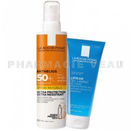 ANTHELIOS Spray Solaire 50+ 200ml + Gel Lavant OFFERT