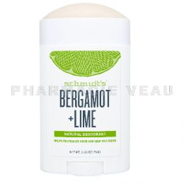 SCHMIDTS Déodorant Naturel Bergamote Citron Vert roll-on 75g