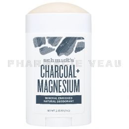 SCHMIDTS Déodorant Naturel Charbon Magnésium roll-on 75g