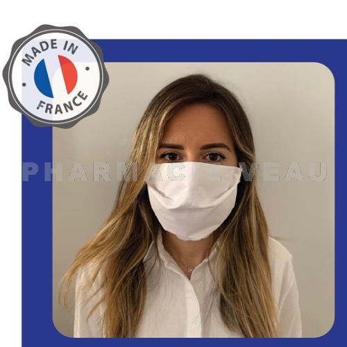 Masque protection Coronavirus tissu ADULTE (AFNOR SPEC S76-001 Covid-19) - LOT de 10