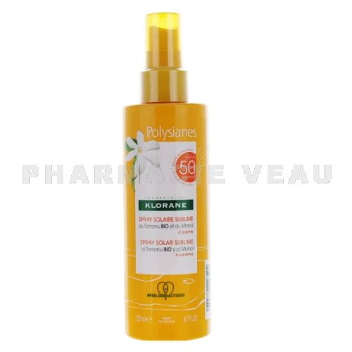KLORANE MONOI Spray Solaire Sublime 50+ (200ml) Polysianes