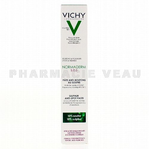 VICHY NORMADERM S.O.S Pâte anti-boutons au souffre (20ml)