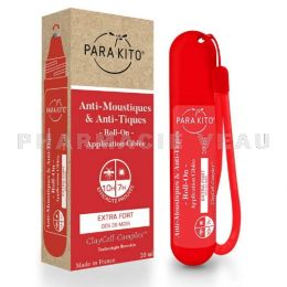 PARAKITO Anti-Moustiques et Anti-Tiques Roll-On EXTRA FORT 20ml