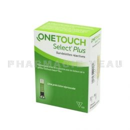 ONE TOUCH SELECT PLUS 100 Bandelettes - Mesure glycémie