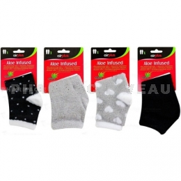 AIRPLUS Chaussettes Hydratantes Aloe Infused 1 paire Gris/noir/Coeurs