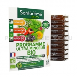 SANTAROME BIO Ultra Minceur Triple Action 30 ampoules