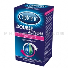 OPTONE DOUBLE ACTION Gouttes oculaires Yeux Secs 10ml