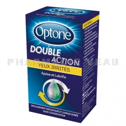 OPTONE DOUBLE ACTION Gouttes oculaires Yeux irrités 10ml