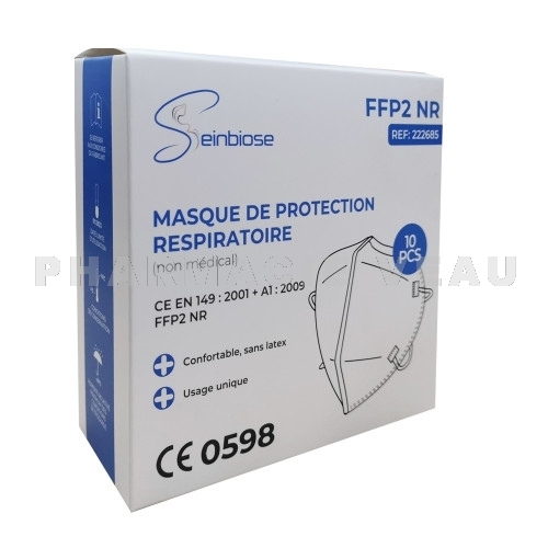 Masque FFP2 de protection respiratoire (x10)