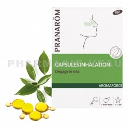 AROMAFORCE Capsules Inhalation Bio x15 Pranarôm