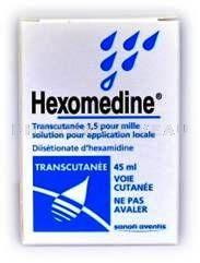 HEXOMEDINE TRANSCUTANEE flacon de 45ml - Vente en ligne ...