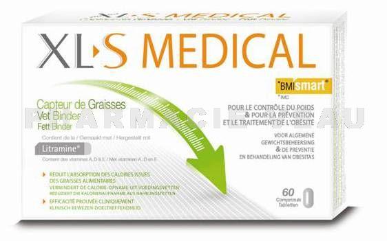 Xl s medical capteur de graisses boite de 60 comprim s - Xls medical capteur de graisse pas cher ...
