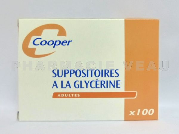 Suppositoires à la Glycérine ADULTES Bte de 100 Cooper