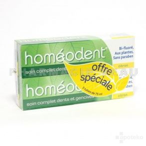 HOMEODENT Soin Complet Dents et Gencives CITRON Lot de 2 tubes de 75ml