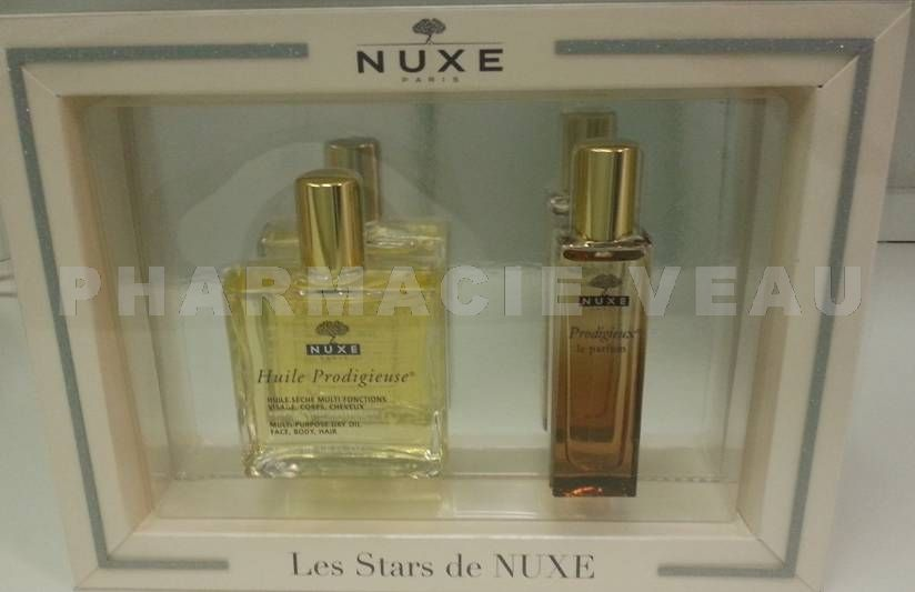Nuxe coffret les stars de nuxe huile prodigieuse le - Parfum prodigieux nuxe pas cher ...