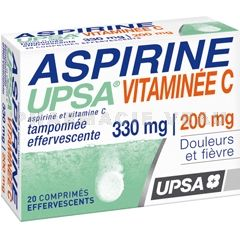 ASPIRINE UPSA VITAMINEE C 330/200 mg 20 comprimés effervescents
