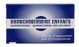 BRONCHODERMINE ENFANT 10 Suppositoires