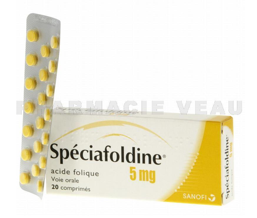 fdf1b4c3185 Spéciafoldine 5 mg boîte de 20 comprimés - PharmacieVeau