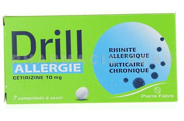 drill allergie notice
