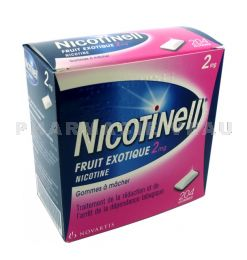 NICOTINELL 2 mg Fruits Exotiques boîte de 204 gommes