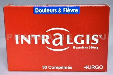 INTRALGIS 200mg 30 comprimés