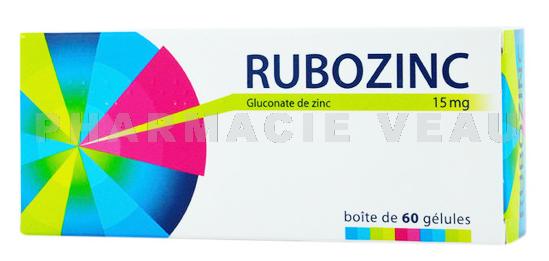 RUBOZINC 15 mg Boîte de 30 geluless - PharmacieVeau