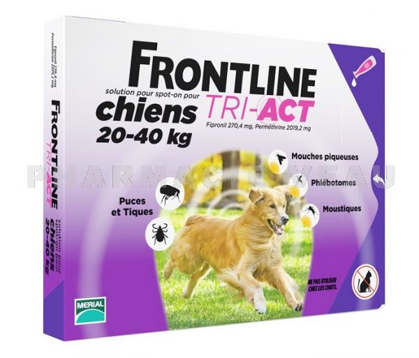 FRONTLINE TRI-ACT Chiens L 20-40 kg 3 Pipettes