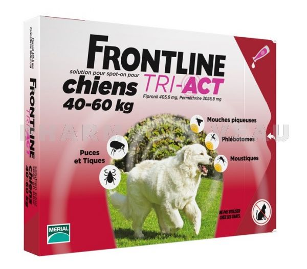 FRONTLINE TRI-ACT Chiens XL 40-60 kg 3 Pipettes
