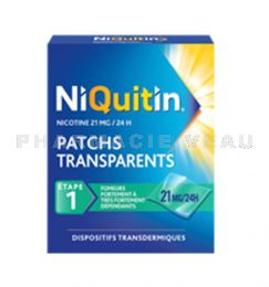 NIQUITIN PATCH 21mg/24h 7 Patchs transparents