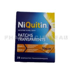 NIQUITIN PATCH 14mg/24h 28 Patchs transparents