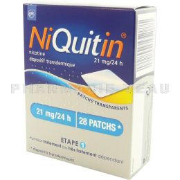 NIQUITIN PATCH 21mg/24h 28 Patchs transparents
