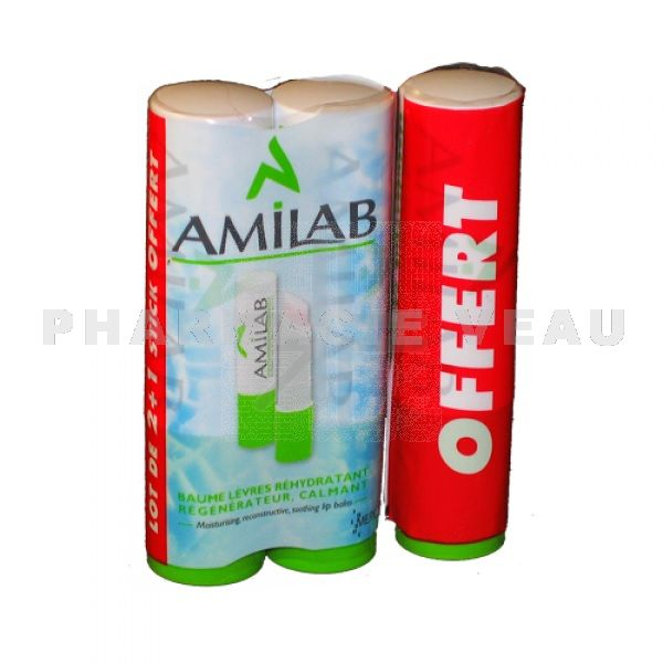 AMILAB Stick Lèvres (lot de 3 sticks)