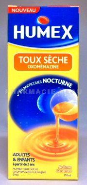 humex toux seche nocturne flacon de 150ml vente en ligne france. Black Bedroom Furniture Sets. Home Design Ideas