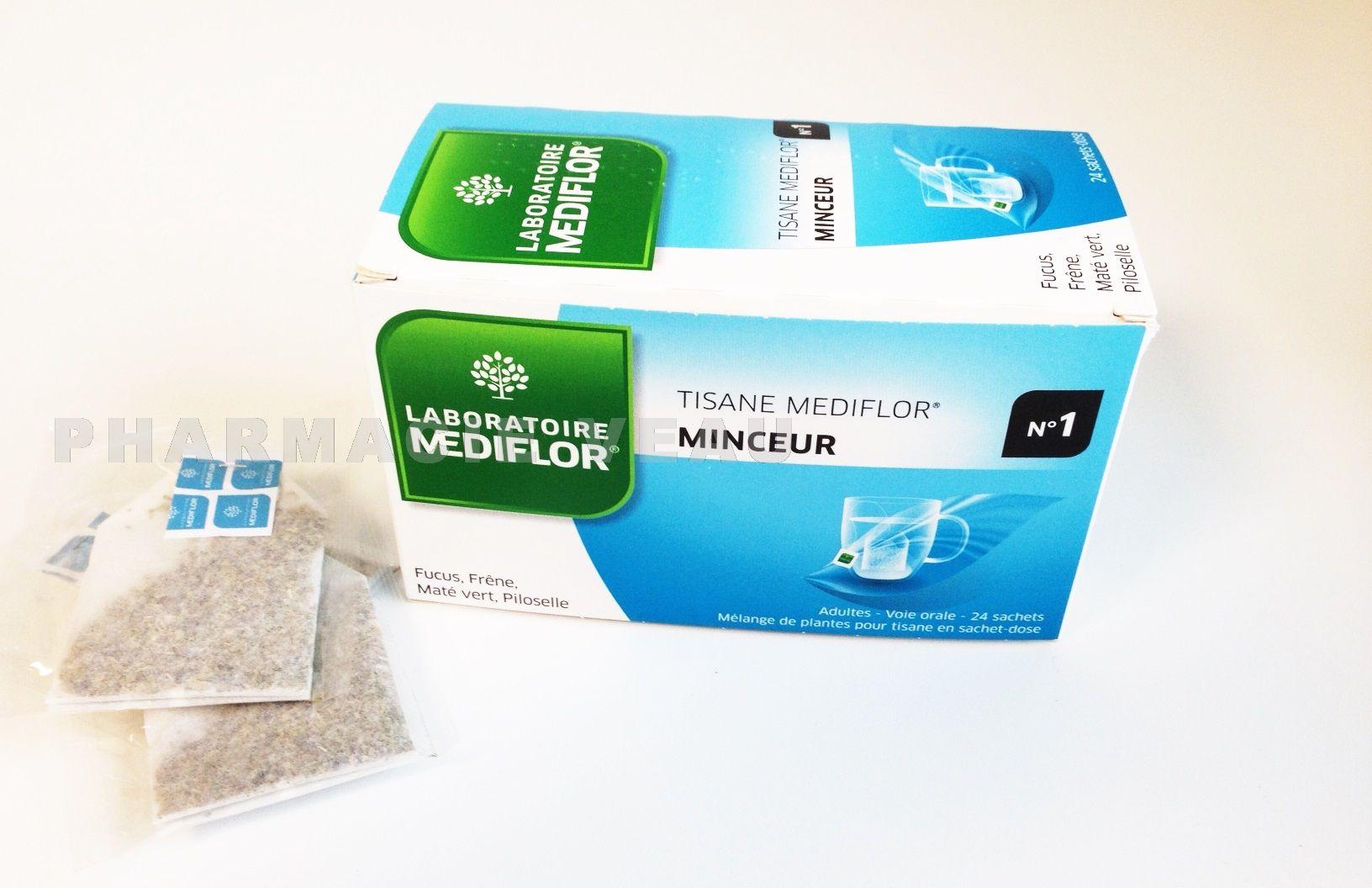 mediflor tisanes th rapeutiques n 1 minceur 24 sachets pharmacieveau. Black Bedroom Furniture Sets. Home Design Ideas