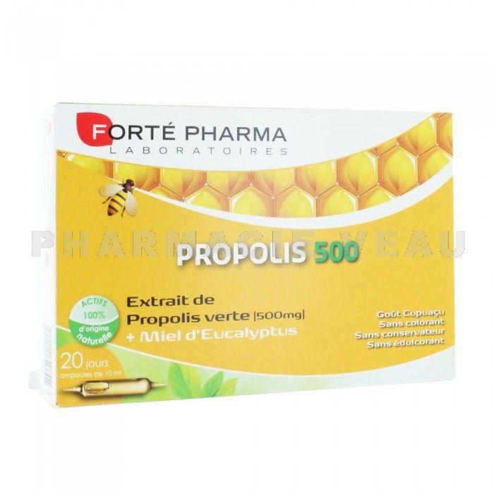 FORTE PHARMA Propolis 500mg 20 ampoules - PharmacieVeau