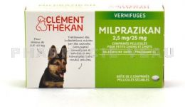 CLEMENT THEKAN Milprazikan 2.5 mg/25 mg Vermifuge CHIOTS et Petits Chiens