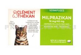 CLEMENT THEKAN Milprazikan 16mg/40mg Vermifuge CHAT