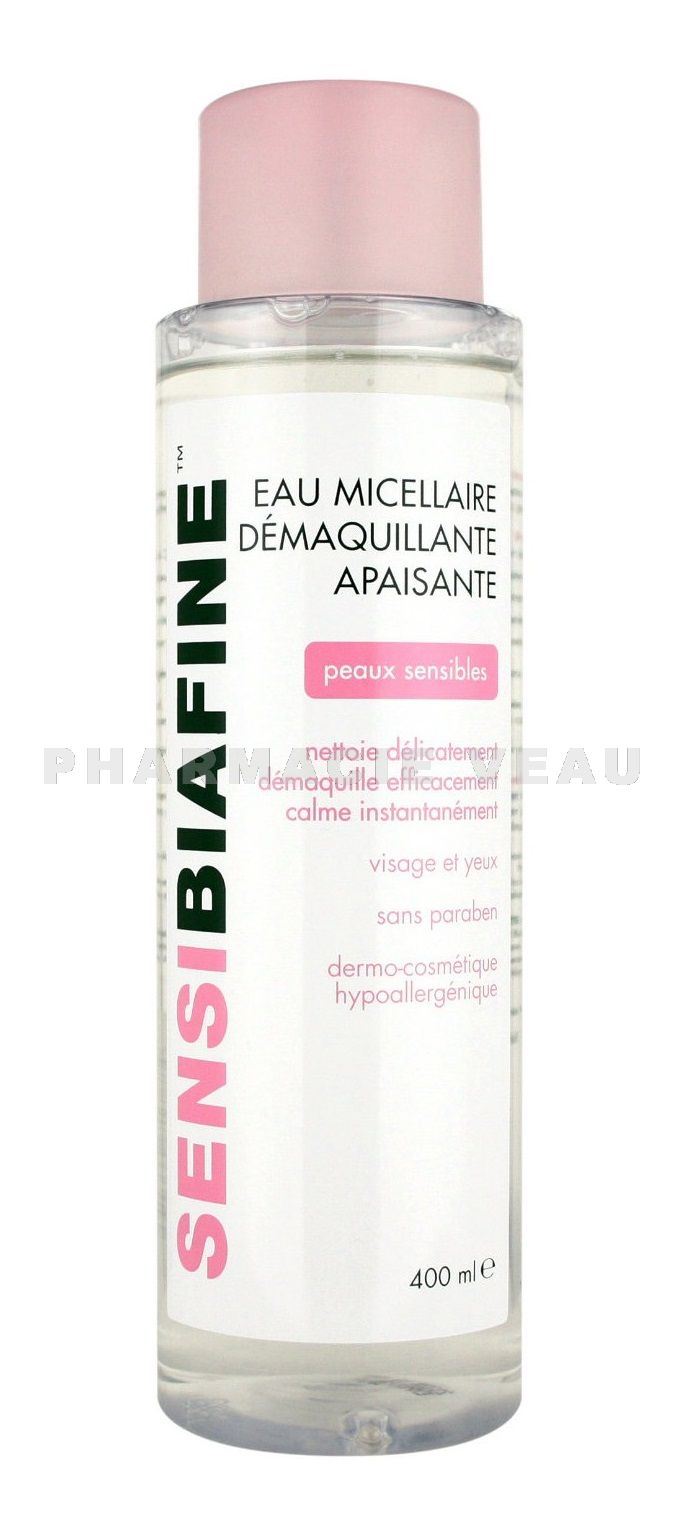 sensibiafine eau micellaire d maquillante apaisante lot de 2 x 400 ml pharmacieveau. Black Bedroom Furniture Sets. Home Design Ideas