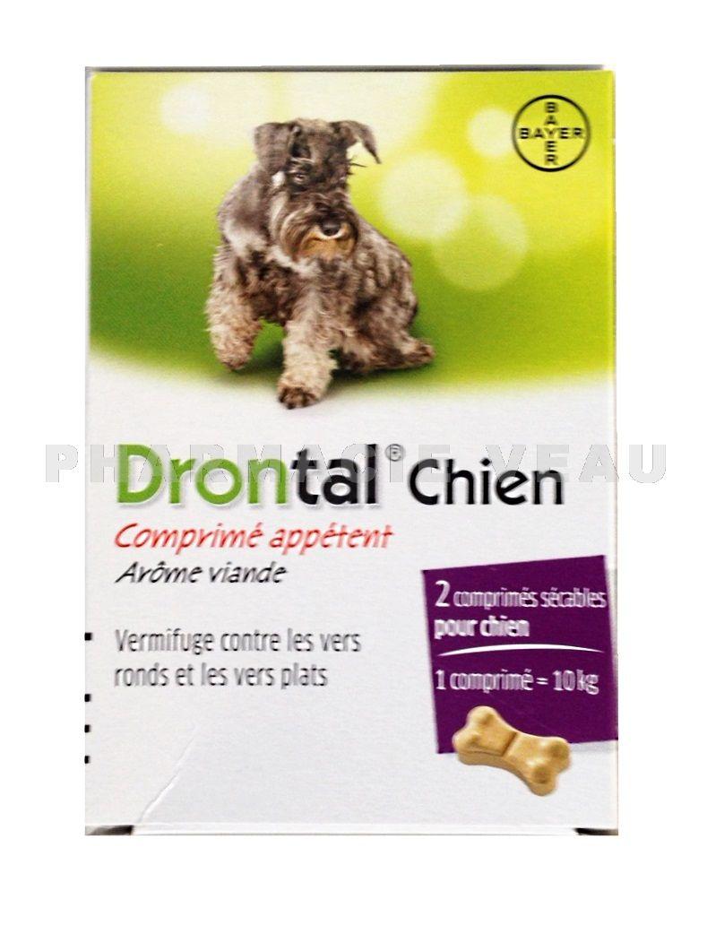 drontal chien en forme d 39 os 2 comprim s s cables pharmacieveau. Black Bedroom Furniture Sets. Home Design Ideas