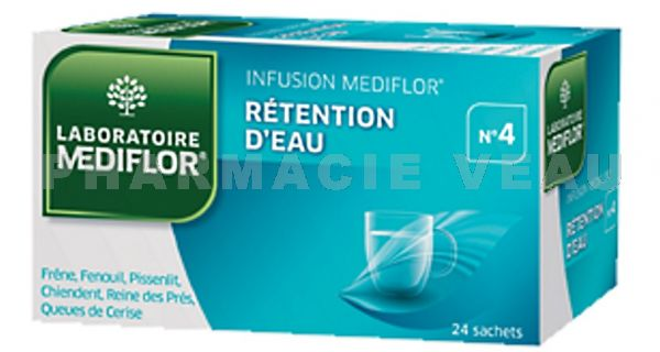 MEDIFLOR Infusion N° 4 RETENTION D'EAU 24 sachets