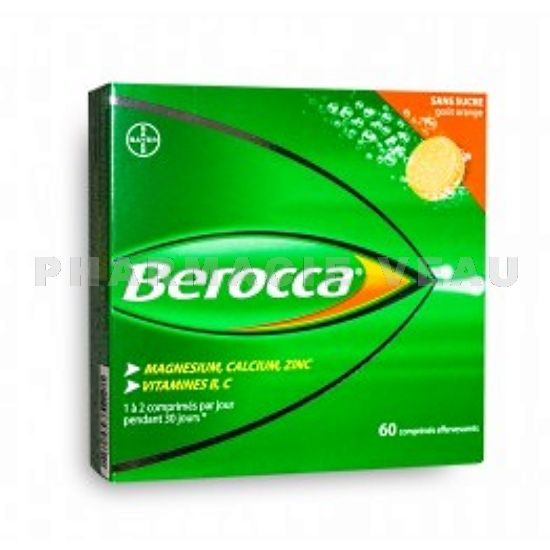 7ed43e2c90b BEROCCA boite de 60 comprimés effervescents - PharmacieVeau.fr